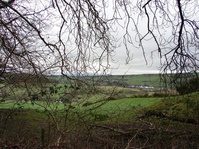 Ringford from High Barcaple Woods