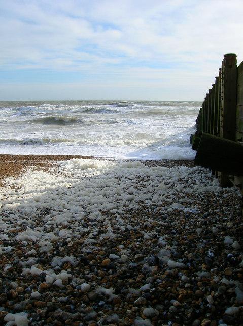 Foamy Sea, Eastbourne Beach
