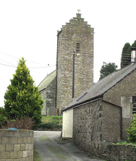 The bell tower of Holy Cross Church, Llannor