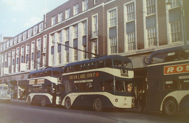 Trolleybuses on King Edward Street  Kingston upon Hull