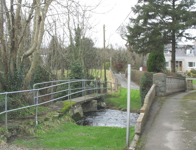 Bridges over Afon Rhyd-hir in the village of Llannor