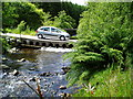 SN8686 : River Severn, Forestry Road Pipe Bridge, Cwm Ricket by kevin skidmore