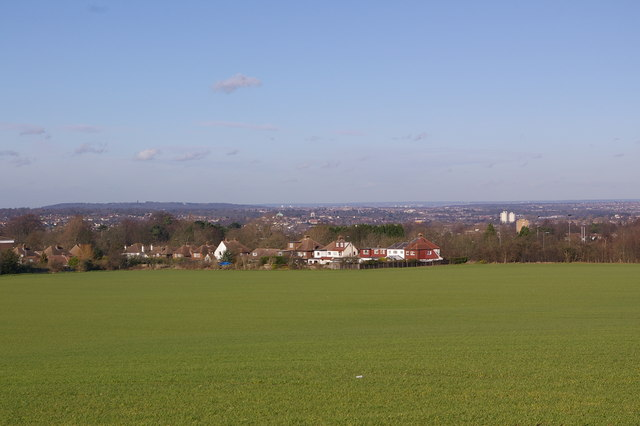 View north from Chelsfield Green