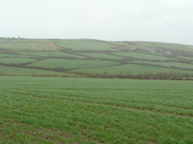Arable land north of Tregwarmond
