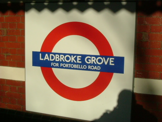 Ladbroke Grove station sign