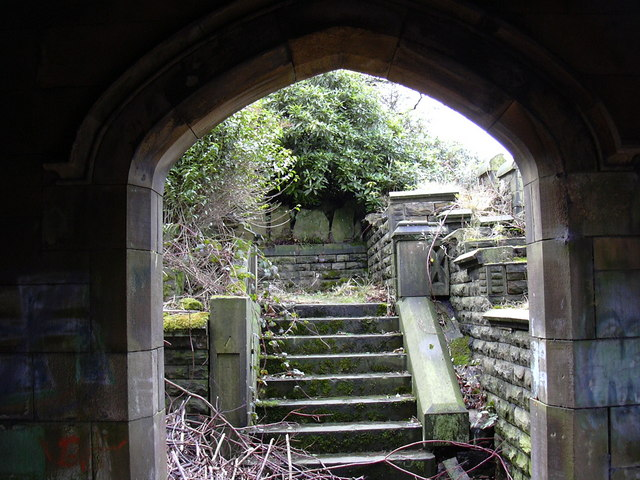 Lower Steps and Lych Gate, St James the Great, Haslingden