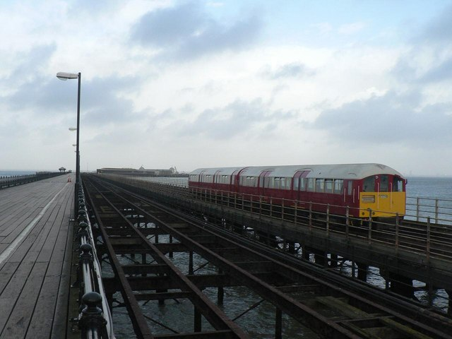 Ryde: train on the pier