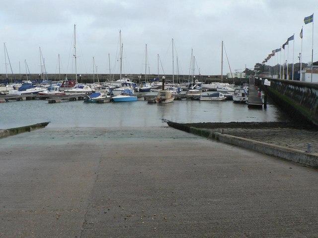 Ryde: harbour slipway
