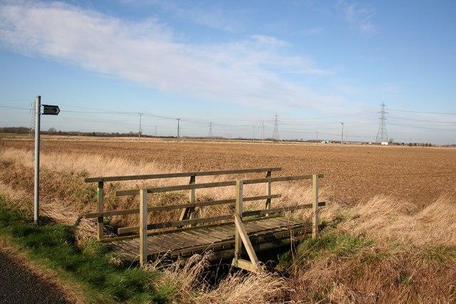 Footbridge on Moor Lane