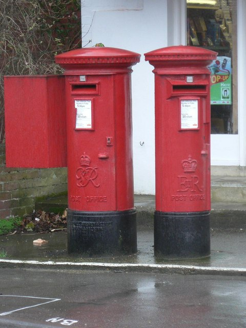 Bembridge: postbox №s PO35 1051 and PO35 1052