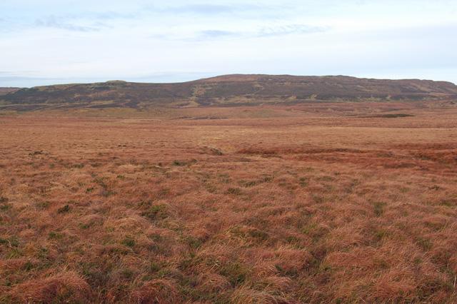 Flat moorland below Beinn na Cloiche
