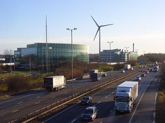 The M4 and Green Park, Reading