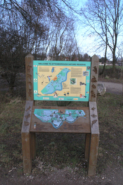 Information board, Attenborough