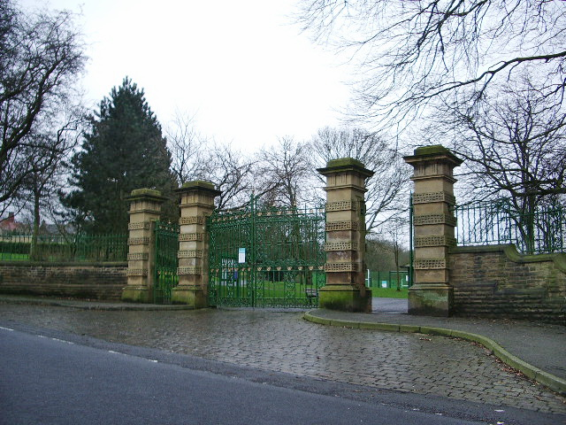 Entrance to Scott Park, Burnley