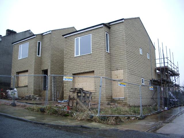 New houses on Rosehill Road, Burnley