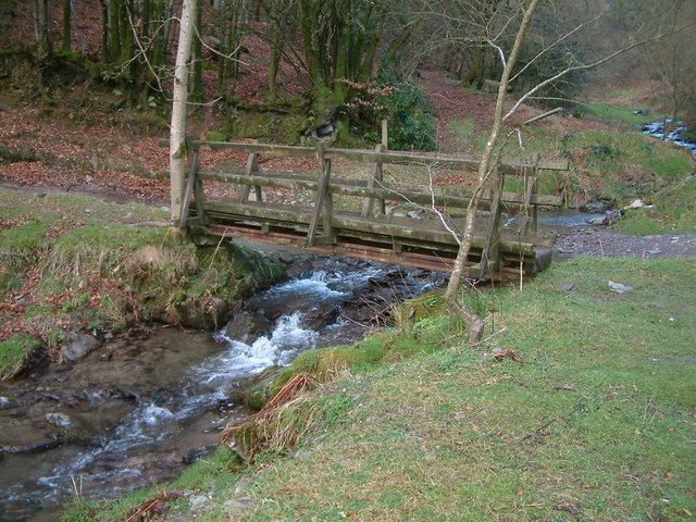 Footbridge over stream near Hollam Farm