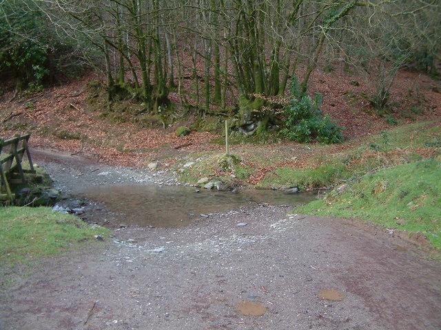 Ford over stream, near Hollam Farm