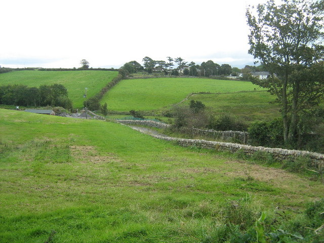 The valley of the Afon Cadnant