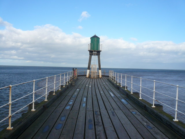Whitby - West Pier Ends Here