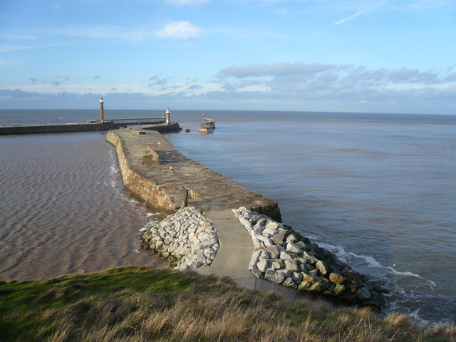 Whitby - Harbour Entrance View