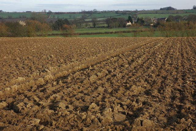 Ploughed field, Hidcote Boyce