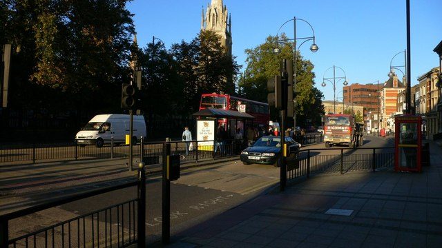 Stratford Broadway and St Johns Church