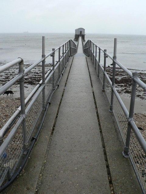 Bembridge: lifeboat station walkway
