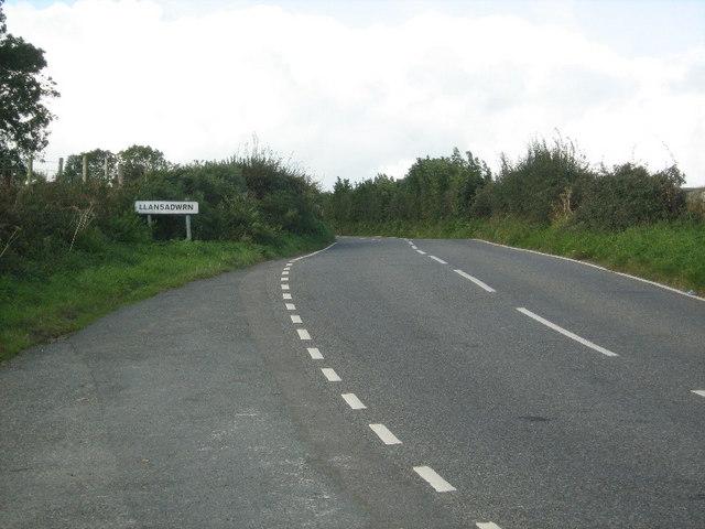 Llansadwrn boundary