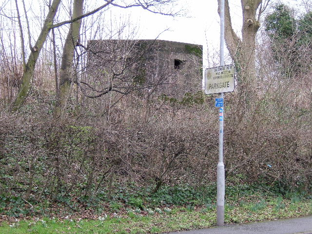 World War II Pill box, at Neston