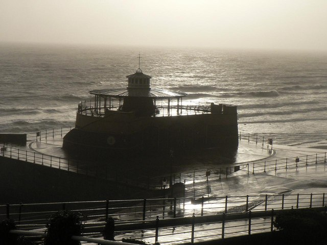 Ventnor: the bandstand in silhouette
