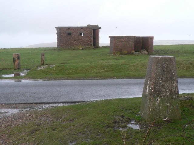 St. Boniface Down: trig point and military remnants