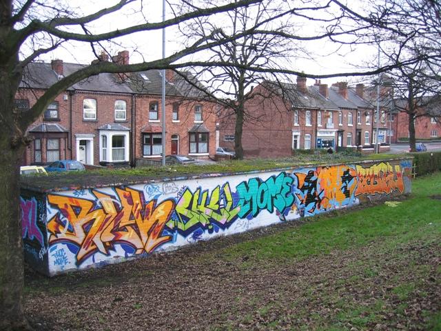 Graffiti in The Cop park