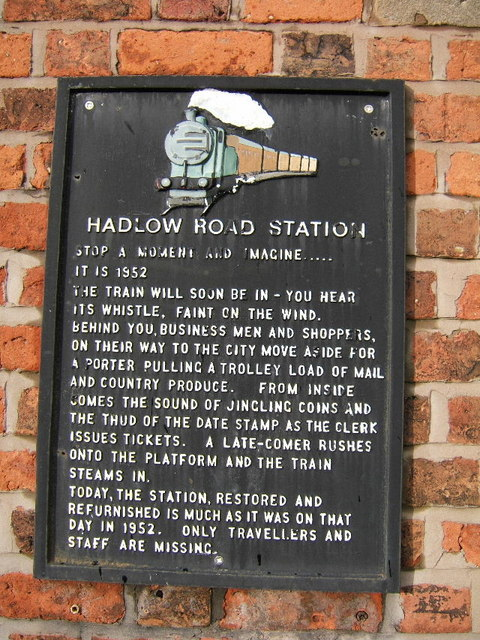 Hadlow Road Station, Information Plaque