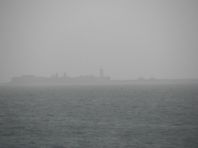 Hurst lighthouse from the Lymington-Yarmouth ferry