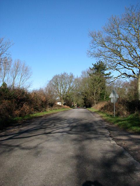 View north along Newton Road