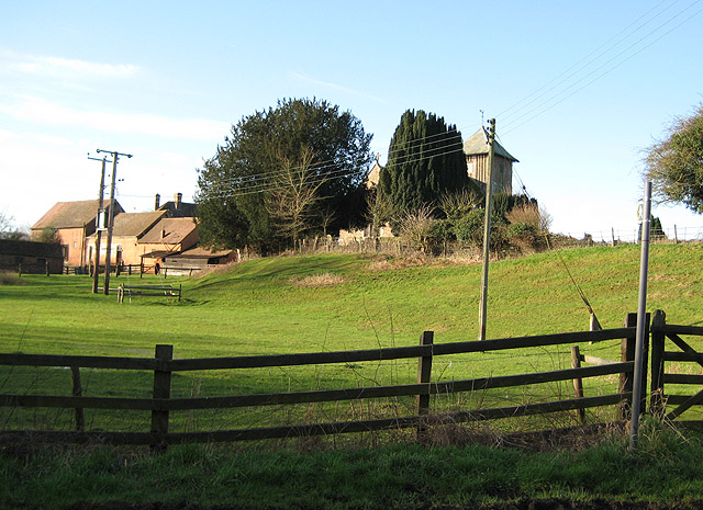 Short footpath by the church and farm