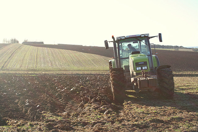 Ploughman preparing for the Spring sowing