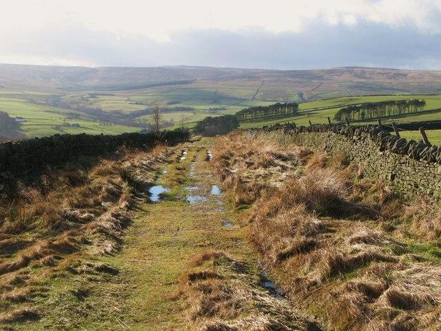 Track below Green Hill