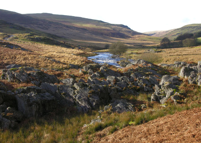The Claerwen valley