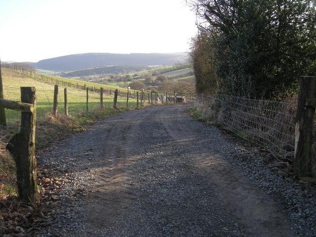 Farmtrack near Wood House