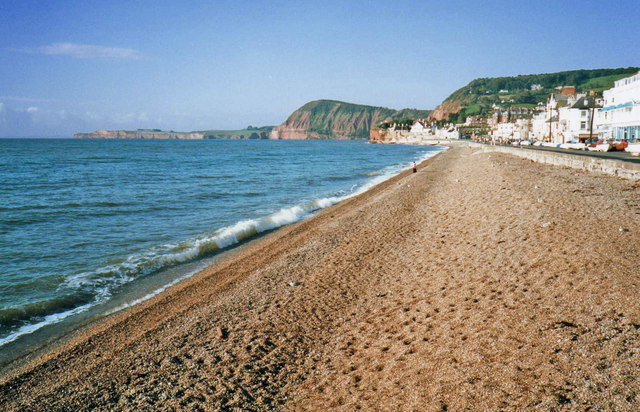 Beach at Sidmouth Looking west