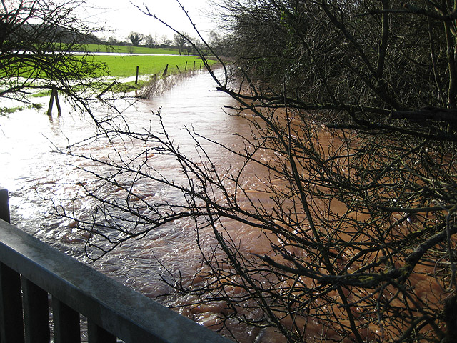 River Leadon in flood