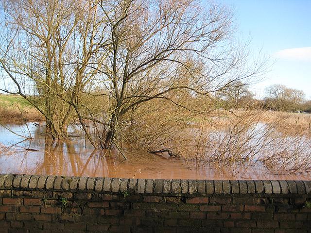 River Leadon bursts its banks
