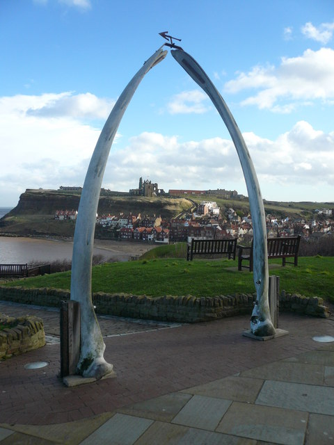 Whitby - Whalebone Arch and View