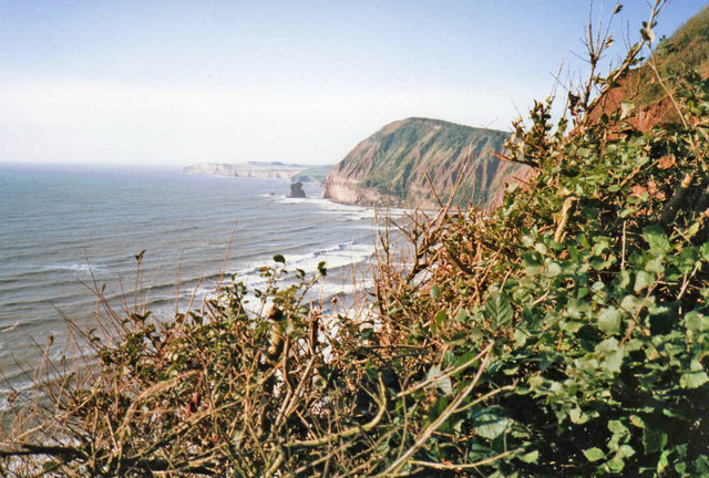 High Peak with Big Picket Rock from Peak Hill, Sidmouth