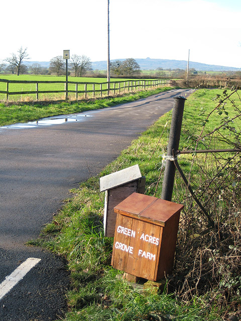 Entrance to Green Acres and Grove Farm