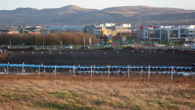 Site of new Edinburgh tram depot