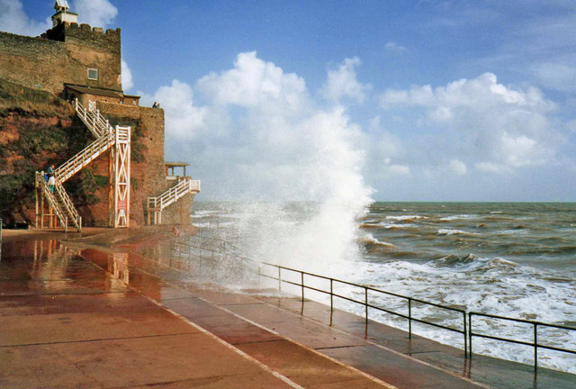Rough Sea at Jacob's Ladder, Sidmouth
