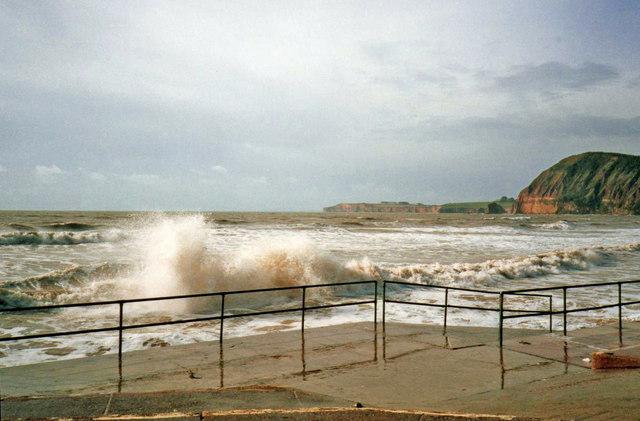 Rough Sea at Sidmouth, Devon