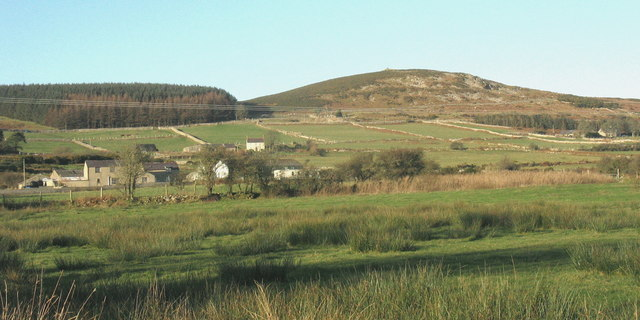 Smallholdings on the eastern slopes of Mynydd Nefyn
